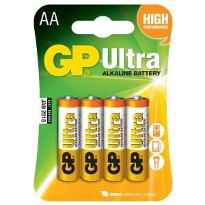 Alkalická baterie GP Ultra AA (LR6)