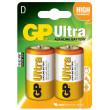 Baterie GP Ultra Alkaline R20 (D, velké mono) blistr