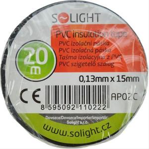 Izolační páska, 15mm x 0,13mm x 20m, černá