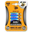JCB OXI DIGITAL alkalická baterie LR03, blistr 4 ks