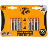 JCB SUPER alkalická baterie LR03, blistr 8 ks