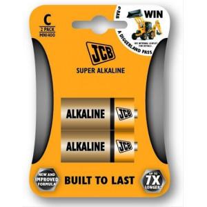 JCB SUPER alkalická baterie LR14, blistr 2 ks
