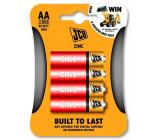JCB zinko-chloridová baterie R06, blistr 4 ks