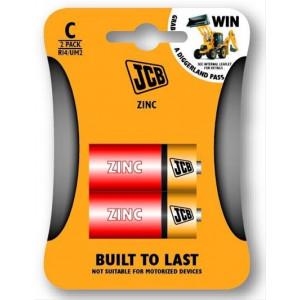 JCB zinko-chloridová baterie R14, blistr 2 ks