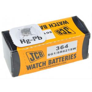 JCB hodinkové baterie typ 364, balení 10ks
