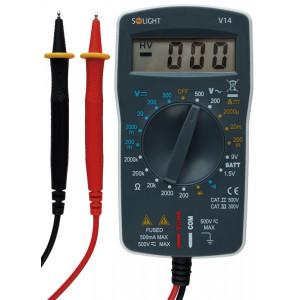 multimetr, max. AC 500V, max. DC 500V / 200mA, test diody, test baterie, bzučák