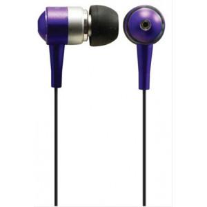 Sluchátka, pecky, 10mm, metalická barva, fialová