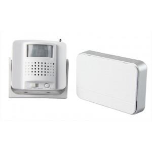 bezdrátový hlásič pohybu/gong, externí PIR čidlo, napájení ze zásuvky, bílý
