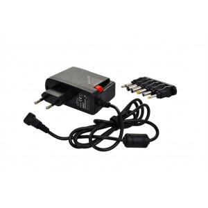 univerzální síťový adaptér 1500mA, stabilizovaný, výměnné konektory
