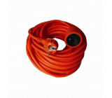 prodlužovací kabel - spojka, 1 zásuvka, oranžová, 10m