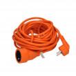 prodlužovací kabel - spojka, 1 zásuvka, oranžová, 15m