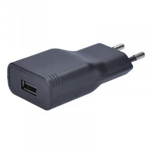 USB nabíjecí adaptér, 1x USB, 2400mA, AC 230V, černý