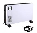 horkovzdušný konvektor 2300W, WiFi, LCD, ventilátor, časovač, nastavitelný termostat