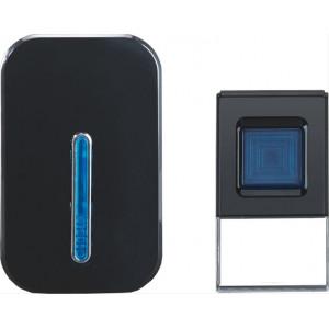 Bezdrátový zvonek, do zásuvky, 100m, černý