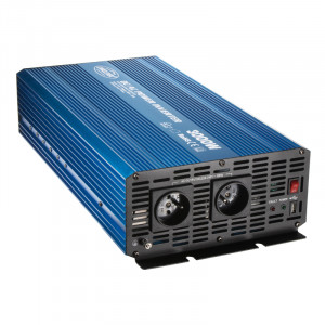 Sinusový měnič napětí z 12/230V + USB, 3000W