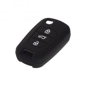 Silikonový obal pro klíč Hyundai i30, ix35 3-tlačítkový, černý