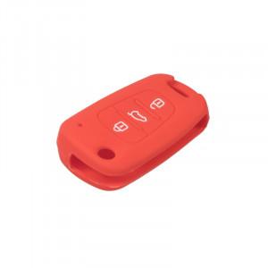 Silikonový obal pro klíč Hyundai i30, ix35 3-tlačítkový, červený