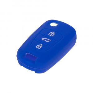 Silikonový obal pro klíč Hyundai i30, ix35 3-tlačítkový, modrý