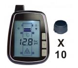TPMS kontrola tlaku v pneumatice 10 externích čidel