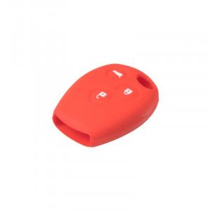 Silikonový obal pro klíč Renault 3-tlačítkový, červený