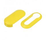 Náhr. obal klíče pro Fiat, 3-tlačítkový žlutý