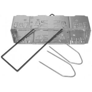 Univerzální kastlík rádia ISO krátký, včetně vytah. vidliček a plastového lemu