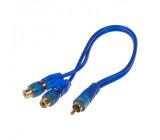 RCA Y audio kabel BLUE BASIC line, 2xsamice, 1xsamec