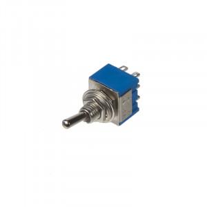 Dvoucestný páčkový přepínač 2x6A/12V, 2x3A/220V