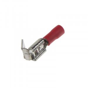 Rozvaděč plochý 6,3 mm červený, 100 ks