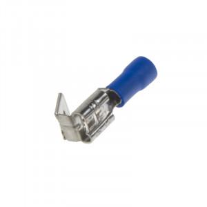 Rozvaděč plochý 6,3 mm modrý, 100 ks