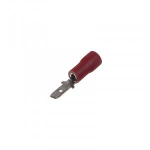 Zástrčka plochá 2,8 mm červená, 100 ks