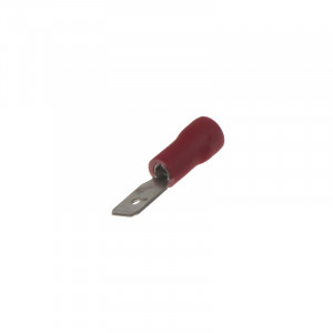 Zástrčka plochá 4,8 mm červená, 100 ks