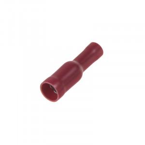 Objímka kruhová 4,0 mm červená, 100 ks
