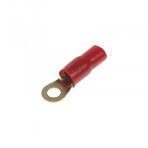 Očko červené M8 pro kabel 25mm, 10ks