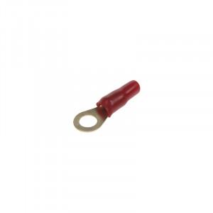 Očko červené M8 pro kabel 8 mm2, 10ks