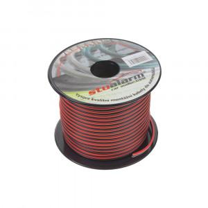 Kabel 2x1 mm, černočervený, 50 m bal