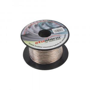 Kabel 2x1 mm, transparentní, 25 m bal