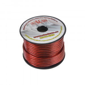 Kabel 6 mm, červeně transparentní, 25 m bal