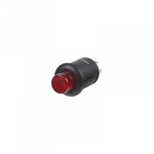 Tlačítko kulaté 6A červená LED