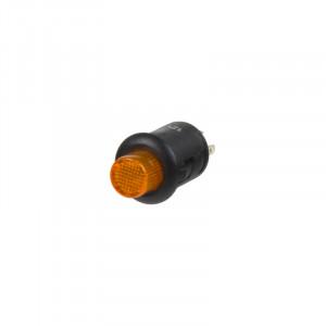 Tlačítko kulaté 6A oranžová LED