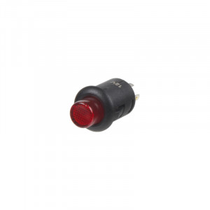Spínač kulatý 6A červená LED