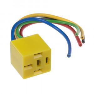 Relé patice s kabely žlutá, 5-vývodů