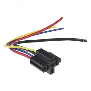 Relé patice s kabely černá, 5-vývodů