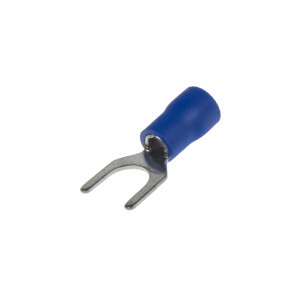 Kabelová vidlička M6 modrá, 100 ks