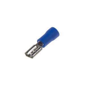 Objímka plochá 4,8 mm modrá, 100 ks
