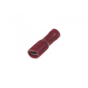 Objímka plochá izolovaná 4,8 mm červená, 100 ks