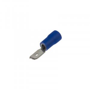 Zástrčka plochá 4,8 mm modrá, 100 ks