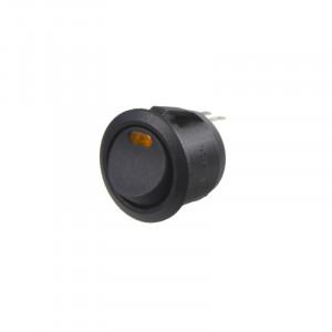 Spínač kolébkový kulatý 20A oranžová LED