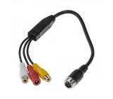 Kabel video 4pin samec/RCA
