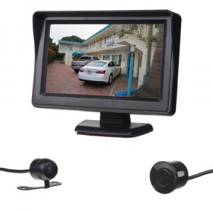 """Parkovací systém se 4-mi čidly a kamerou + LCD 4,3"""""""